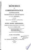 Mémoires et correspondances littéraires, dramatiques et anecdotiques