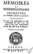 Mémoires et négociations secrettes de diverses cours de l'Europe ...