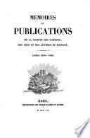 Mémoires et publications de la Société des Sciences, des Arts et des Lettres du Hainaut