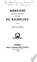 Mémoires histoirques et anecdotiques du duc de Richelieu
