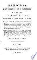 Memoires historiques et politiques du regne de Loius XVI