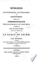 Mémoires historiques, littéraires et anecdotiques