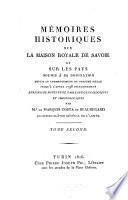 Mémoires historiques sur la Maison Royale de Savoie