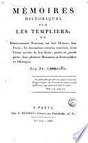 Mémoires historiques sur les Templiers