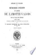 Mémoires inédits sur sa vie et son époque (1754 - 1830.)