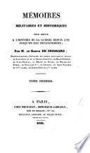 Mémoires militaires et historiques pour servir à l'histoire de la guerre depuis 1792, jusqu'en 1815