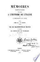 Mémoires particuliers pour sevir à l'histoire de l'Eglise de l'Amerique du Nord