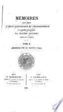 Memoires pour servir a l'état historique et géographique de diocèse de Bayeux