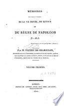 Mémoires pour servir à l'histoire de la vie privée, du retour et du règne de Napoléon en 1815