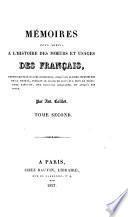 Mémoires pour servir à l'histoire des moeurs et usages des Français