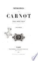 Memoires sur Carnot par son fils