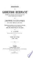 Mémoires sur l'histoire ecclésiastique du XVIIe siècle (1630-1663)