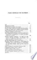Mémoires. [With] Table générale
