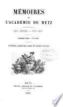 memoirs de l'academie de metz