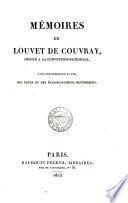 MEMOISES DE LOUVET DE COUVRAY,