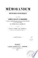 Mémorandum historico-politique