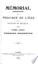 Mémorial administratif de la province de Liège
