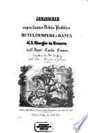 Memorie sopra l'antico Debito Pubblico, Mutui, Compere e Banca di S. Giorgio in Genova