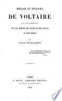 Ménage et finances de Voltaire