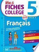 Mes fiches collège Français 5e
