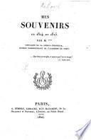 Mes souvenirs de 1814 et 1815