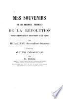 Mes souvenirs sur les principaux événements de la révolution