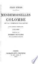 Mesdemoiselles Colombe, de la Comédie-italienne