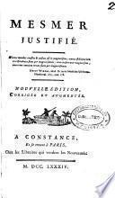 Mesmer justifié [Par J.J. Paulet].
