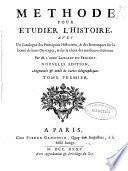 Methode pour etudier lH?istoire