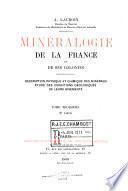Minéralogie de la France et de ses colonies