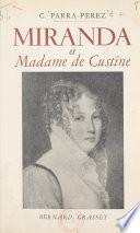 Miranda et Madame de Custine