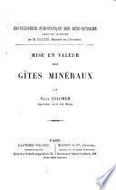 Mise en valeur des gîtes minéraux