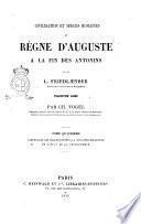 Moeurs romaines du regne d'Auguste a la fin des Antonins par L. Friedlaender