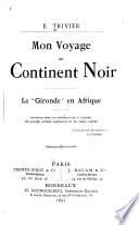 Mon voyage au continent noir