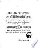 Monde primitif, analysé et comparé avec le monde moderne ou recherches sur les antiquités du monde