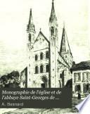 Monographie de l'église et de l'abbaye Saint-Georges de Boscherville (Seine-Inférieure)