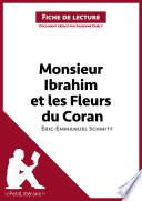 Monsieur Ibrahim et les Fleurs du Coran d'Éric-Emmanuel Schmitt (Fiche de lecture)