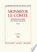 Monsieur le comte - Romain Rolland et Léon Tolstoï