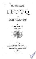 Monsieur Lecoq par Émile Gaboriau