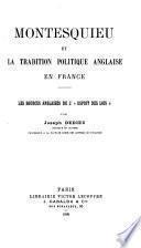 Montesquieu et la tradition politique anglaise en France