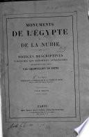 Monuments de l'Egypte et de la Nubie0