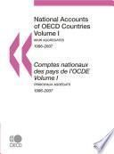 National Accounts of OECD Countries 2009, Volume I, Main Aggregates