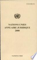 Nations Unies Annuaire Juridique 2000