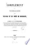 Nobiliaire des Pays-Bas et du comté de Bourgogne