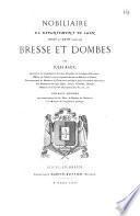 Nobiliaire du Département de l'Ain, (XVIIe et XVIIIe siècles)