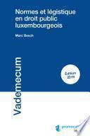 Normes et légistique en droit public luxembourgeois
