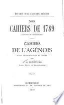 Nos cahiers de 1789
