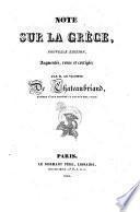 Note sur la Grece, nouv. ed