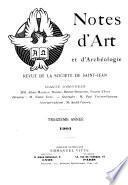 Notes d'art et d'archéologie