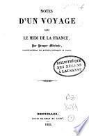 Notes d'un voyage dans le midi de la France